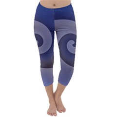 Logo Wave Design Abstract Capri Winter Leggings