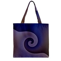 Logo Wave Design Abstract Zipper Grocery Tote Bag
