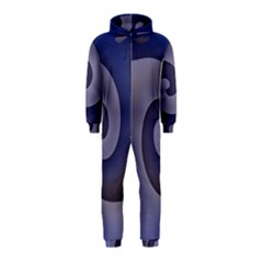 Logo Wave Design Abstract Hooded Jumpsuit (Kids)