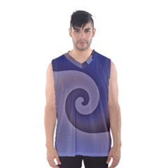 Logo Wave Design Abstract Men s Basketball Tank Top