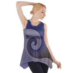 Logo Wave Design Abstract Side Drop Tank Tunic