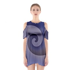 Logo Wave Design Abstract Shoulder Cutout One Piece
