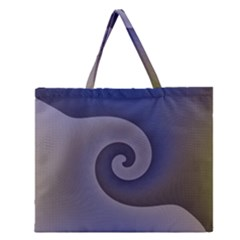 Logo Wave Design Abstract Zipper Large Tote Bag