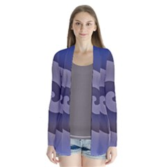 Logo Wave Design Abstract Cardigans