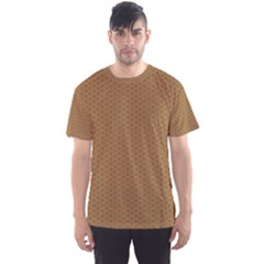 Pattern Honeycomb Pattern Brown Men s Sport Mesh Tee