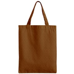 Pattern Honeycomb Pattern Brown Classic Tote Bag