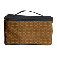 Pattern Honeycomb Pattern Brown Cosmetic Storage Case