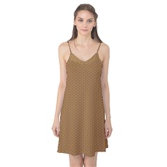 Pattern Honeycomb Pattern Brown Camis Nightgown