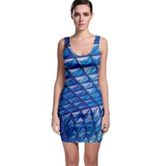 Lines Geometry Architecture Texture Sleeveless Bodycon Dress