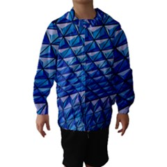 Lines Geometry Architecture Texture Hooded Wind Breaker (Kids)