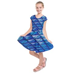 Lines Geometry Architecture Texture Kids  Short Sleeve Dress