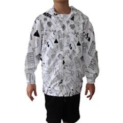 Furniture Black Decor Pattern Hooded Wind Breaker (Kids)