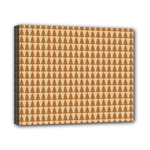 Pattern Gingerbread Brown Canvas 10  x 8