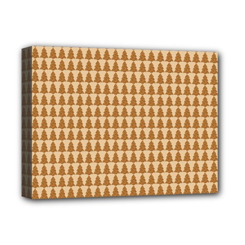 Pattern Gingerbread Brown Deluxe Canvas 16  x 12