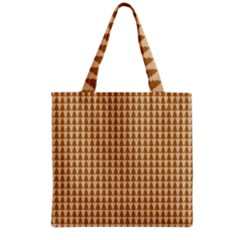 Pattern Gingerbread Brown Grocery Tote Bag