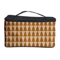 Pattern Gingerbread Brown Cosmetic Storage Case
