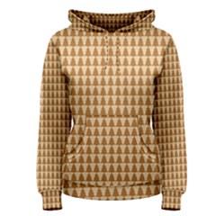 Pattern Gingerbread Brown Women s Pullover Hoodie