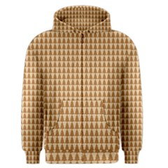 Pattern Gingerbread Brown Men s Zipper Hoodie