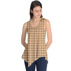 Pattern Gingerbread Brown Sleeveless Tunic