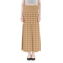 Pattern Gingerbread Brown Maxi Skirts