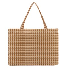 Pattern Gingerbread Brown Medium Zipper Tote Bag