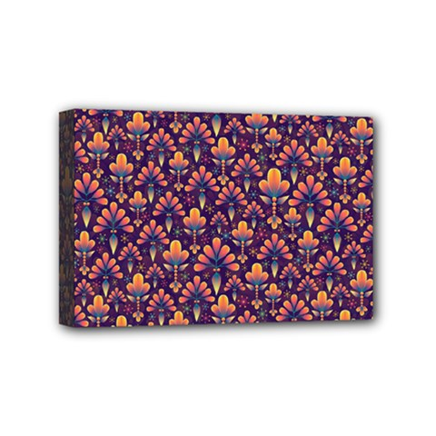 Abstract Background Floral Pattern Mini Canvas 6  X 4