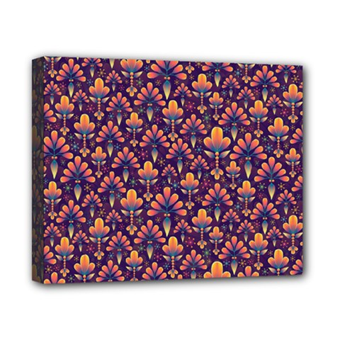 Abstract Background Floral Pattern Canvas 10  x 8