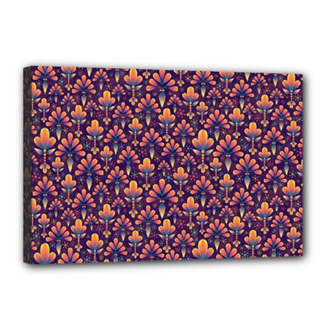 Abstract Background Floral Pattern Canvas 18  x 12