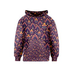 Abstract Background Floral Pattern Kids  Pullover Hoodie