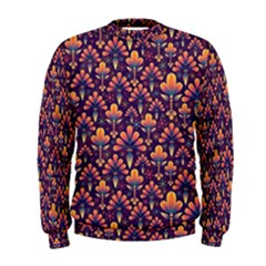 Abstract Background Floral Pattern Men s Sweatshirt