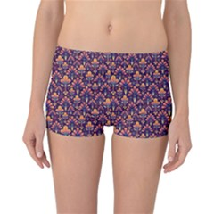Abstract Background Floral Pattern Reversible Bikini Bottoms