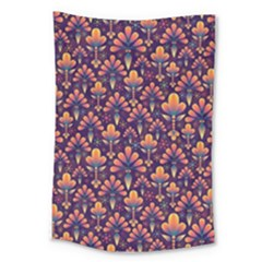 Abstract Background Floral Pattern Large Tapestry