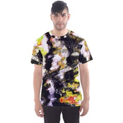 Canvas Acrylic Digital Design Men s Sport Mesh Tee