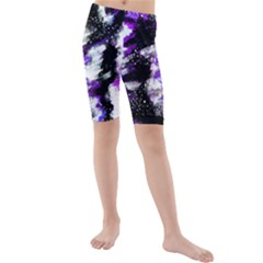Canvas Acrylic Digital Design Kids  Mid Length Swim Shorts