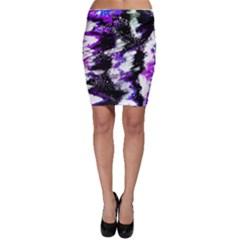 Canvas Acrylic Digital Design Bodycon Skirt