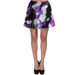 Canvas Acrylic Digital Design Skater Skirt