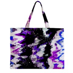 Canvas Acrylic Digital Design Zipper Mini Tote Bag