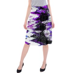 Canvas Acrylic Digital Design Midi Beach Skirt
