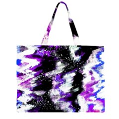 Canvas Acrylic Digital Design Large Tote Bag