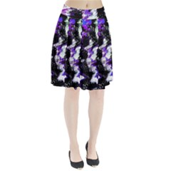 Canvas Acrylic Digital Design Pleated Skirt