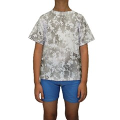 Wall Rock Pattern Structure Dirty Kids  Short Sleeve Swimwear