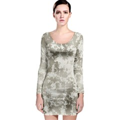 Wall Rock Pattern Structure Dirty Long Sleeve Bodycon Dress