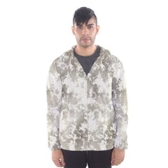 Wall Rock Pattern Structure Dirty Hooded Wind Breaker (Men)