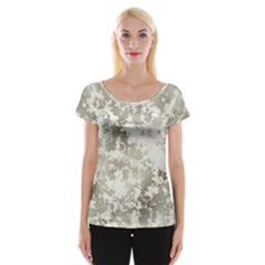 Wall Rock Pattern Structure Dirty Women s Cap Sleeve Top