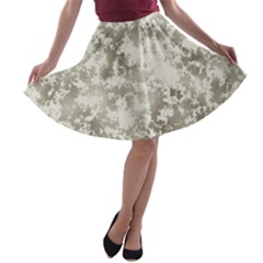Wall Rock Pattern Structure Dirty A Line Skater Skirt