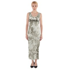 Wall Rock Pattern Structure Dirty Fitted Maxi Dress