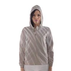 Sand Pattern Wave Texture Hooded Wind Breaker (Women)