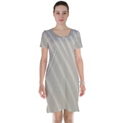 Sand Pattern Wave Texture Short Sleeve Nightdress