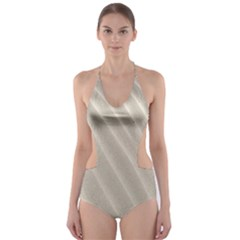 Sand Pattern Wave Texture Cut-Out One Piece Swimsuit