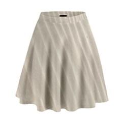 Sand Pattern Wave Texture High Waist Skirt
